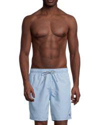 Ted Baker Men's Geo-print Swim Trunks - Navy - Size 5 (xl) - Blue