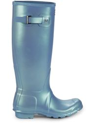 HUNTER Nebula Original Tall Rain Boots - Blue