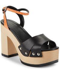 McQ Open-toe Platform Sandals - Black