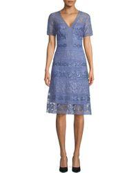 Tadashi Shoji - Floral Sequin A-line Dress - Lyst