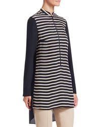 Akris Punto Striped High-low Tunic - Blue