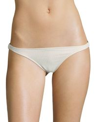 Made By Dawn Glimmer Ribbed Bikini Bottom - Natural