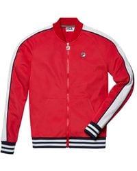 Fila Men's Thurber Track Jacket - Peacoat - Size S - Red
