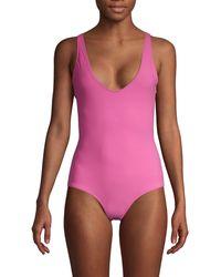 Rochelle Sara Scoopneck One-piece Swimsuit - Multicolor