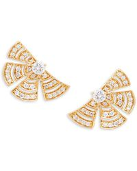 Hueb - 18k Yellow Gold & Diamond Stud Earrings - Lyst