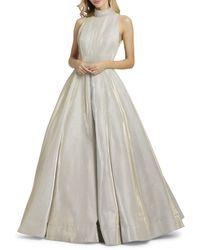Mac Duggal Embellished Sleeveless Ball Gown - White