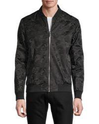 Karl Lagerfeld Men's Camo Bomber Jacket - Black - Size M