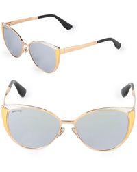 Jimmy Choo Domi 56mm Butterfly Sunglasses - Metallic