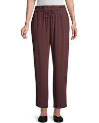 Eileen Fisher Paperbag-waist Drawstring Ankle Trousers - Multicolour