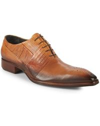 Jo Ghost - Textured Leather Oxfords - Lyst