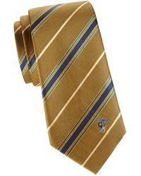 Versace Striped Silk Tie - Multicolour