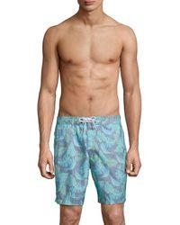 Trunks Surf & Swim Cuts Swami Swim Trunks - Blue