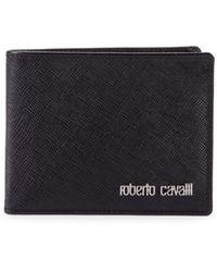 Roberto Cavalli Bifold Leather Wallet - Black