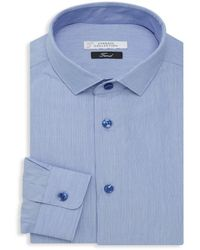 Versace Men's Trend-fit Dress Shirt - Blue - Size 16.5 42