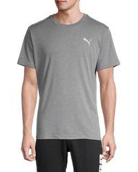 PUMA Men's Pivot Short-sleeve T-shirt - Grey - Size S