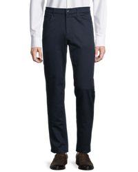 Perry Ellis Slim-fit Stretch-cotton Trousers - Blue