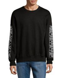 ELEVEN PARIS Graphic Crewneck Sweater - Black