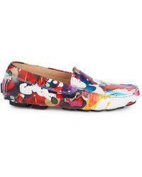 Robert Graham Gerard Splatter Print Leather Loafers - Multicolor