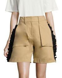 Public School - Mousa Twill Cotton Shorts - Lyst
