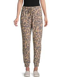 Olive & Oak Leopard-print Drawstring Pants - Multicolor