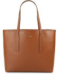 Furla - Ariana Medium Saffiano Leather Open Tote Bag - Lyst