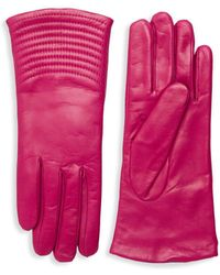 Portolano - Quilted Wave Leather Gloves - Lyst