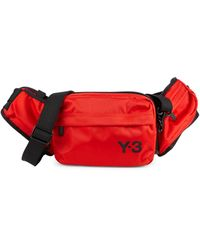 Y-3 Nylon Convertible Sling Bag - Red