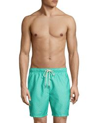Tommy Bahama Men's Naples Afish Solid Swim Trunks - Cave Green - Size S
