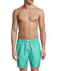 Tommy Bahama Naples Afish Solid Swim Trunks - Green