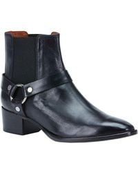 Frye - Dara Leather Harness Ankle Boots - Lyst
