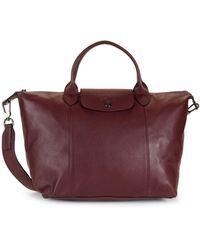 Longchamp Leather Satchel - Multicolor