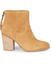 Splendid Hila Suede Ankle Boots - Natural