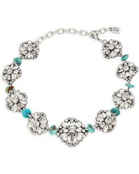 DANNIJO Women's Betsy Swarovski Crystal & Synthetic Turquoise Necklace - Blue