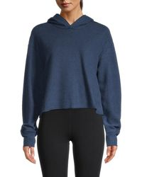 Vimmia Women's Cropped Hoodie - Heather Blue - Size S