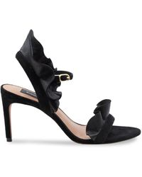 BCBGMAXAZRIA Women's Sabrina Leather Sandals - Black - Size 10
