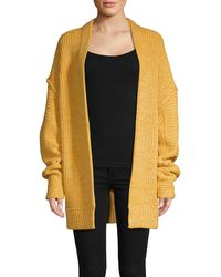 Free People Open-front Cotton-blend Cardigan - Brown