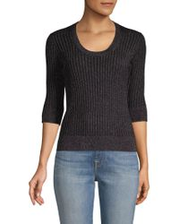 Rebecca Taylor - Ribbed Scoopneck Top - Lyst
