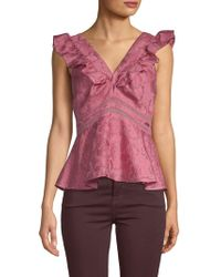 Rebecca Taylor - Sleeveless Aly Top - Lyst