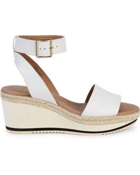 Andre Assous Petra Leather Wedge Sandals - Black