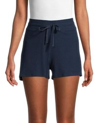 Saks Fifth Avenue Women's Terry Cloth Shorts - Deep Navy - Size Xs - Blue