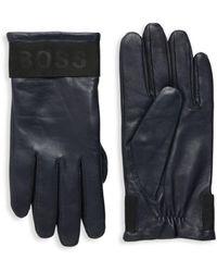 BOSS by HUGO BOSS Hipel Leather Gloves - Blue