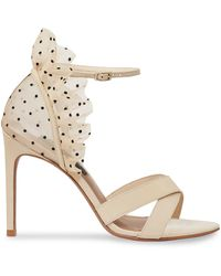 BCBGMAXAZRIA Max Azria Stella Leather Stiletto Sandals - Metallic
