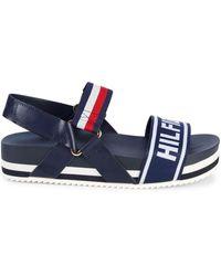 Tommy Hilfiger Bekett Stripe Flatform Sport Sandals - Blue