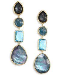 Ippolita - Rock Candy® 18k Yellow Gold Four-stone Linear Drop Earrings - Lyst