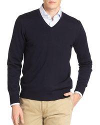 J.Lindeberg Men's Merino Wool Sweater - Black - Size L