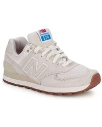 New Balance - Wl 574 Round Toe Lace-up Sneakers - Lyst
