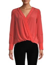 Bailey 44 Corine Crossover Blouse - Red