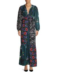 French Connection - Celia Mix Maxi Dress - Lyst