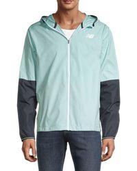 New Balance Men's Colorblocked Jacket - Blue - Size Xxl
