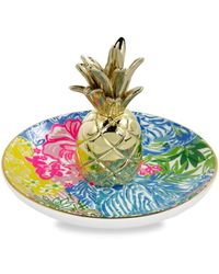 Lilly Pulitzer Botanical-print Ceramic Ring Holder - Multicolour